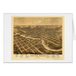 South Bend, IN Panoramic Map - 1874 Card