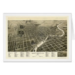South Bend, IN Panoramic Map - 1890 Card