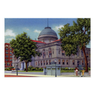South Bend Indiana Court House Poster