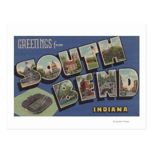 South Bend, Indiana - escenas grandes de la letra Tarjetas Postales