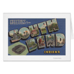 South Bend, Indiana - Large Letter Scenes Greeting Card