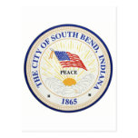 South Bend Indiana Seal Postcard