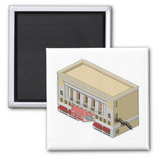 South Bend State Theater 2 Inch Square Magnet