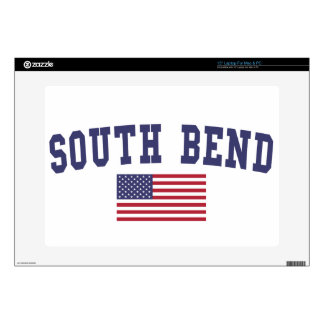 """South Bend US Flag 15"""" Laptop Decal"""