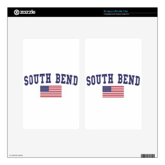 South Bend US Flag Kindle Fire Decals