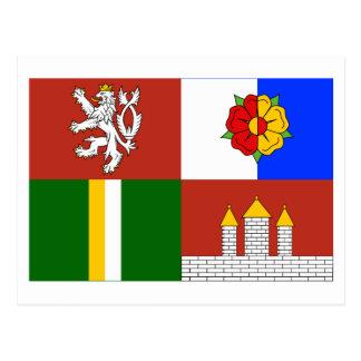 South Bohemia Flag Postcard