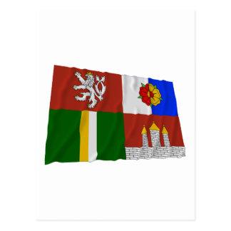 South Bohemia Waving Flag Postcard