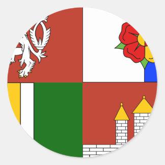 South Bohemian Region, Czech Classic Round Sticker