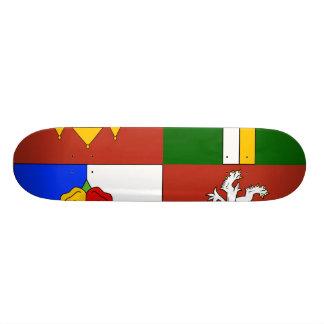 South Bohemian Region Czech Skate Board Deck