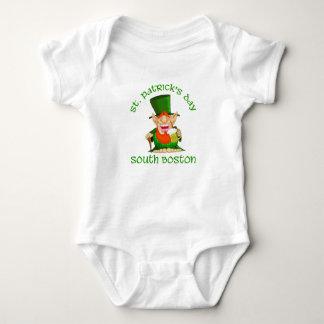 ~South Boston del día del St Patricks Mameluco De Bebé