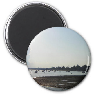 South Boston Sunset 2 Inch Round Magnet
