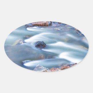 South Boulder Creek Little Waterfalls Rollinsville Oval Sticker