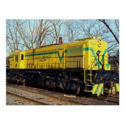 South Branch Valley Railroad Alco MRS-1 No. 28 Rom Postcard