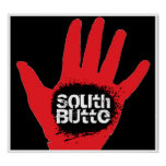South Butte Black Hole Hand Poster
