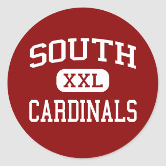 South - Cardinals - Middle - Joplin Missouri Classic Round Sticker