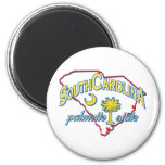 South Carolina 2 Inch Round Magnet