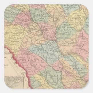 South Carolina 3 Square Sticker