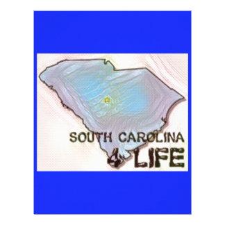"""South Carolina 4 Life"" State Map Pride Design Letterhead"