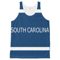 South Carolina All-Over Printed Unisex Tank