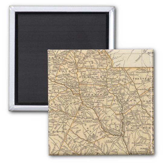 South Carolina Atlas Map Magnet