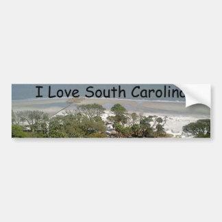 South Carolina Beach Photograph Bumper Sticker