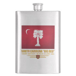 "South Carolina ""Big Red"" Flask"