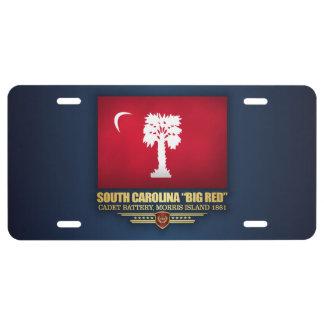 "South Carolina ""Big Red"" License Plate"