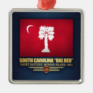 "South Carolina ""Big Red"" Metal Ornament"