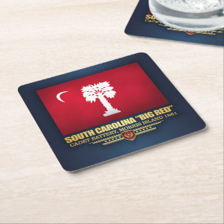 "South Carolina ""Big Red"" Square Paper Coaster"