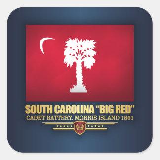 """South Carolina """"Big Red"""" Square Sticker"""