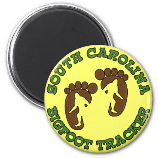 South Carolina Bigfoot Tracker 2 Inch Round Magnet