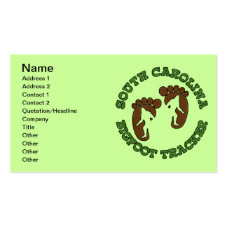 South Carolina Bigfoot Tracker Double-Sided Standard Business Cards (Pack Of 100)