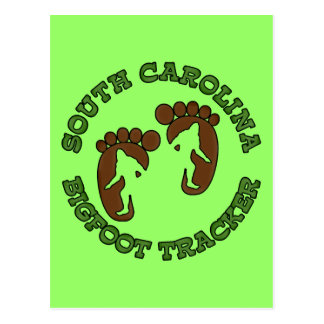 South Carolina Bigfoot Tracker Postcard
