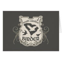 Greeting Card with South Carolina Birder design