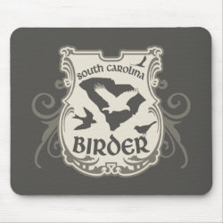 Mousepad with South Carolina Birder design
