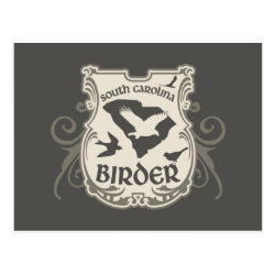 Postcard with South Carolina Birder design