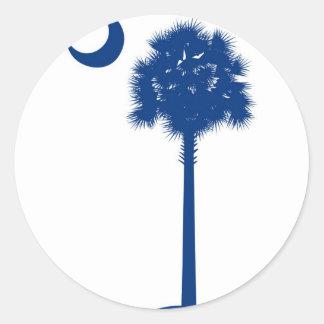 South Carolina blue Palmetto Classic Round Sticker
