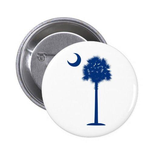 South Carolina blue Palmetto Pinback Button