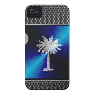 South Carolina brushed metal flag iPhone 4 Covers