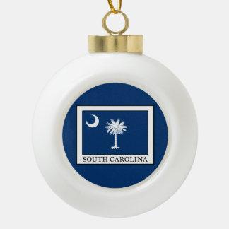 South Carolina Ceramic Ball Christmas Ornament