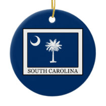South Carolina Ceramic Ornament