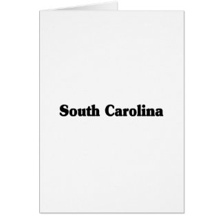 South Carolina Classic Greeting Card
