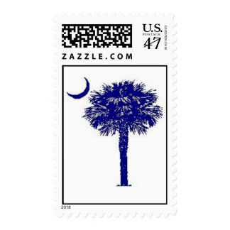 South Carolina Classic Pametto Tree and Moon Postage