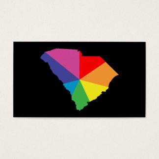 south carolina color burst business card