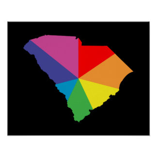 south carolina color burst poster