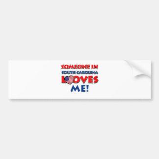 SOUTH CAROLINA Design Bumper Sticker