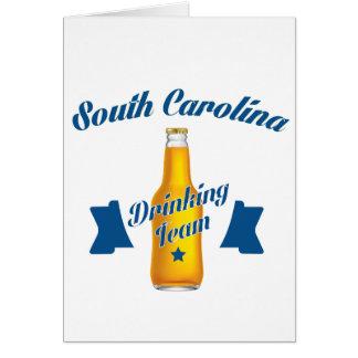 South Carolina Drinking team Card