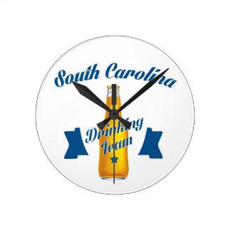 South Carolina Drinking team Round Clock