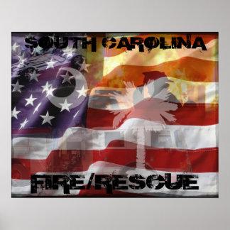 South Carolina Fire Rescue Poster