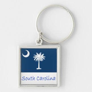 South Carolina Flag And Name Keychain
